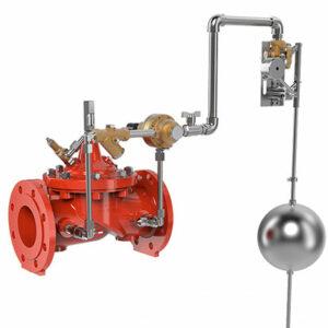 Válvula de reducción de presión con control de nivel por piloto flotador