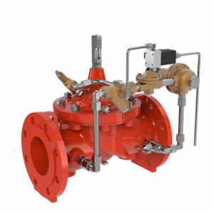 Válvula reductora de presión con telemando eléctrico