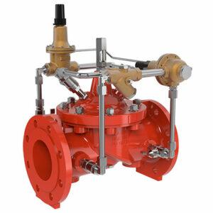 Válvula reductora de presion con control de sobrepresion aguas abajo